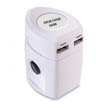 BLK-ICO-316 - TravelPro USB 2-Pole Adapter/USB Charger