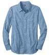 DM3800 - Men's Long Sleeve Washed Woven Shirt