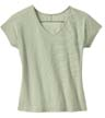 DM422 - Ladies' Mini Stripe Dolman V-Neck Tee