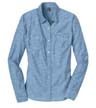 DM4800 - Ladies' Long Sleeve Washed Woven Shirt