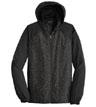 JST40 - Heather Colorblock Raglan Hooded Wind Jacket