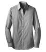 L647 - Ladies' Fine Stripe Stretch Poplin Shirt