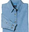 LSP10 - Ladies' Long Sleeve Denim Shirt
