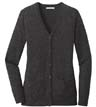 LSW415 - Ladies Marled Cardigan Sweater