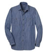 S652 - Men's Denim Shirt with Patch Pockets