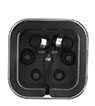 BLK-ICO-319 - Earbuds w/Microphone in Square Case