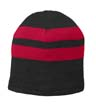 C922 - Fleece-Lined Striped Beanie