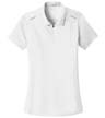 L580 - Ladies' Pinpoint Mesh Zip Polo