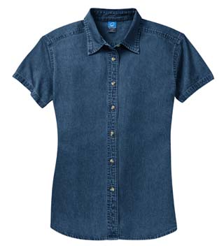 Ladies' Short Sleeve Value Denim Shirt
