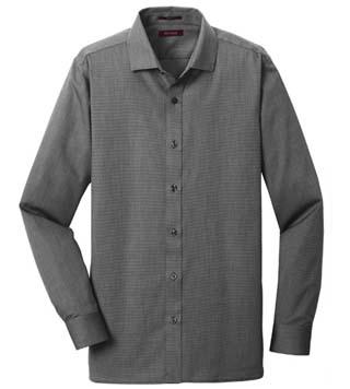Slim Fit Nailhead Non-Iron L/S Shirt